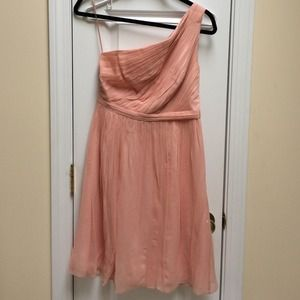 J. Crew Dresses & Skirts - One Shoulder Pink Jcrew Bridesmaid Dress