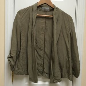 H&M Jackets & Blazers - Drapey Green Army Jacket
