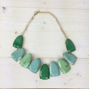 Green Ombré Bib Necklace
