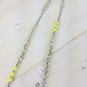 LOFT Jewelry - Long Necklace with Neon, White & Iridescent Beads
