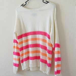 Asos Oversized Cozy Sweater Pink&Orange
