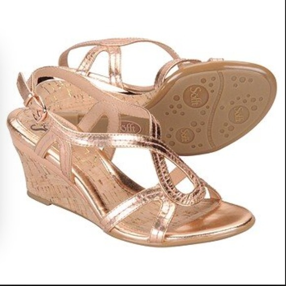 Rose Gold Shoes. Refresh your look with a pair of rose gold shoes. From metallic sandals and sneakers to wedges and pumps, discover rose gold shoes that will take your look to the next level.