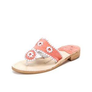 Jack Rogers Shoes - RARE! Jack Rogers Navajo Sandal Peach Suede