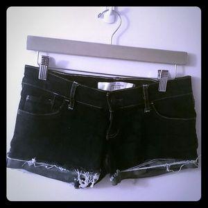 Abercrombie & Fitch short shorts in dark denim