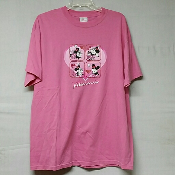 Disney disney store minnie pink t shirt size large from for Oversized disney t shirts