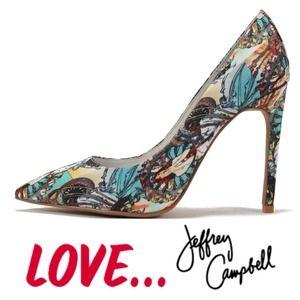 Jeffrey Campbell Turquoise Art Deco Pumps