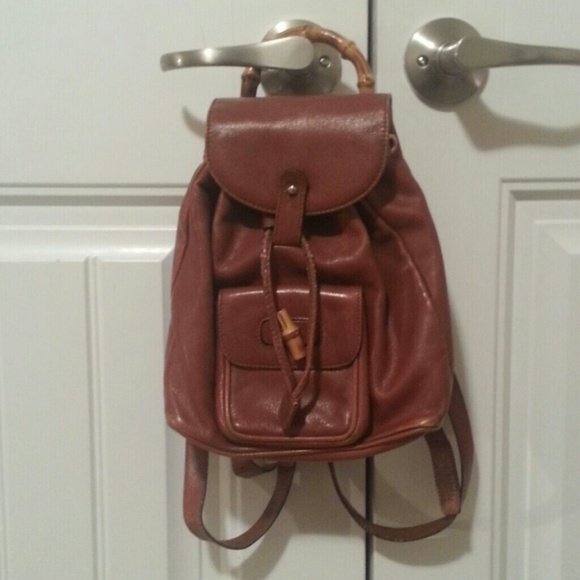 Gucci Bags   Vintage Brown Bamboo Mini Backpack   Poshmark 3f31d10f2d