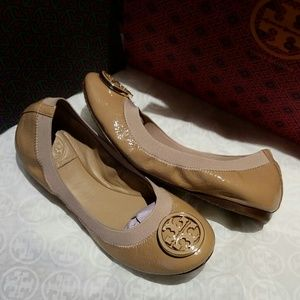 1ddcd02df1aef Tory Burch Shoes - Tory Burch  Caroline  Elastic Trim Ballerina Flat