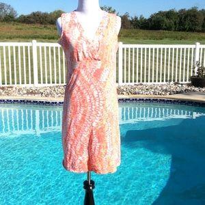 Calvin Klein faux wrap dress S