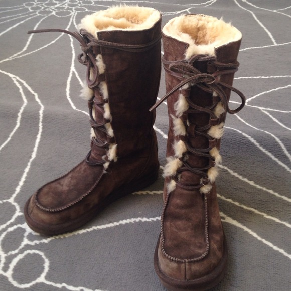 UGG tie up Moccasin Boots