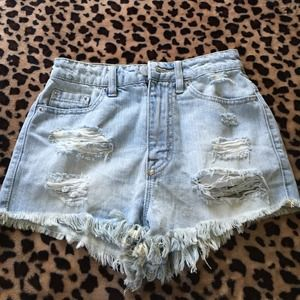 BDG Super High Rise Cheeky Shorts from UO