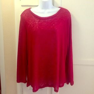 Sweaters - Burgundy back mesh sweater