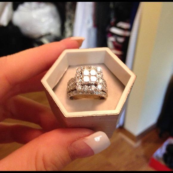 bdb7942077edcd 4 carat diamond wedding set. M_5425bd5f94c7de04cd02f682