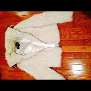 GUESS white rabbit winter jacket