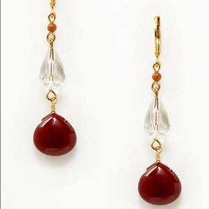 David Aubrey Bettina quartz & carnelian Earrings