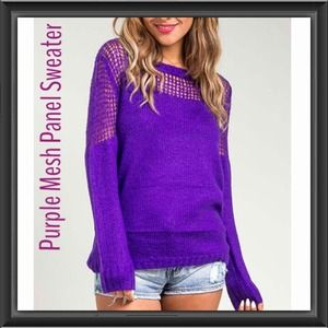 Sweaters - Purple Mesh Sweater 🎉Hp x2🎉
