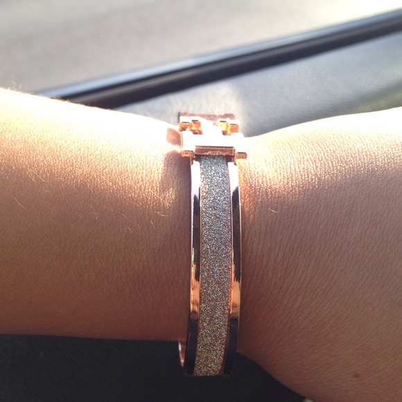 hermes birkin replica cheap - HERMES LOOK ALIKE ROSE GOLD BANGLE OS from ??melody\u0026#39;s closet on ...