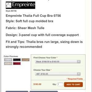 90ddfbaf96ec6 Empreinte Intimates   Sleepwear - Empreinte Thalia Full Cup Bra.