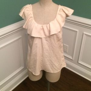 Charlotte Russe cream ruffle top
