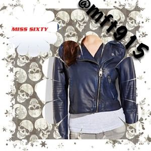 💯Authentic MISS SIXTY motorcycle Jacket