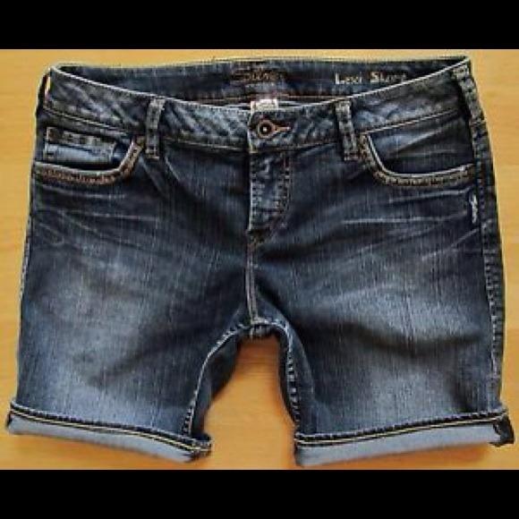 Silver Jeans - Silver Jean Shorts 29 Lexi Bermuda Dark shorts from ...