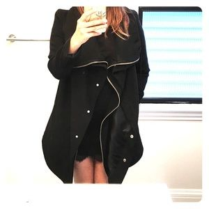 OAK NY Jackets & Blazers - OAK NY draped wool coat!