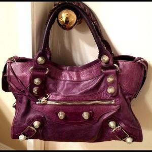 Balenciaga Paris City Giant Bag Purple Authentic