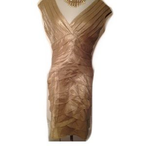 Adrianna Papell Dresses & Skirts - Gold dress