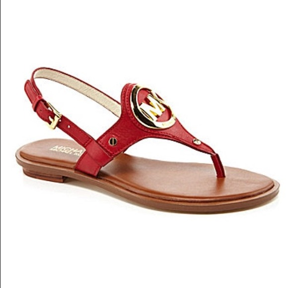 8c2e2e51580d Red michael kors flat sandals!!!