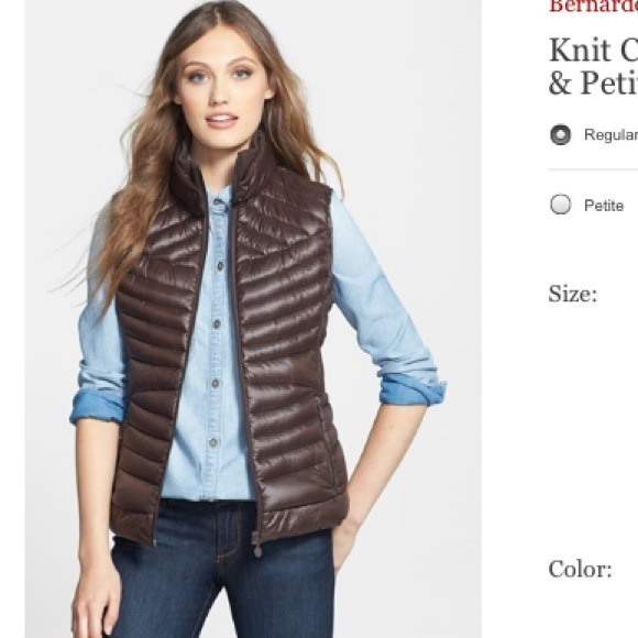 79% off Bernado Outerwear - Goose Down Vest-Warm And Calvin Klein ...