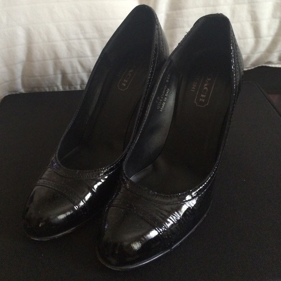 coach coach patent leather heels from jen s closet on