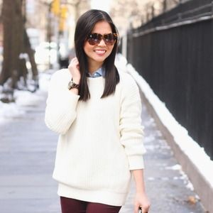 American Apparel Sweaters - Cozy Cream Knit Sweater