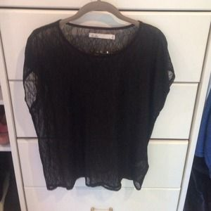 Hi-Line Tops - SALE: Black lace top purchased from Madewell