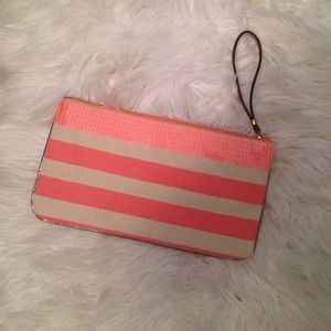 LOFT Clutches & Wallets - Stripe and sequin wristlet