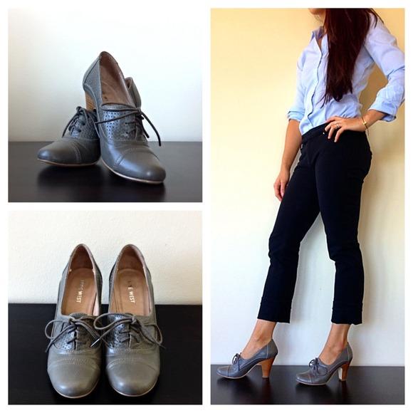 Shoes   Nine West Oxford Heels   Poshmark