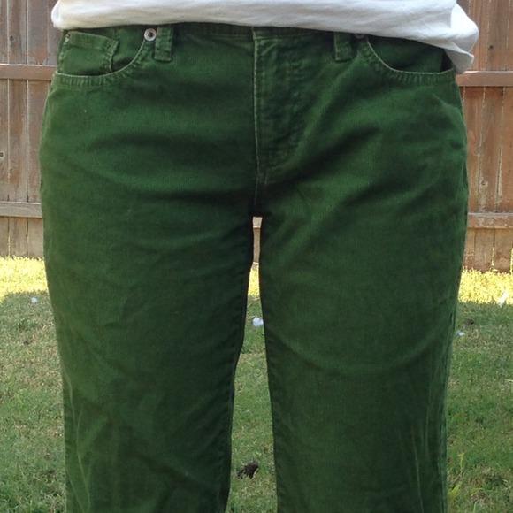 86% off LOFT Pants - Loft green corduroy pants from Anna's closet ...