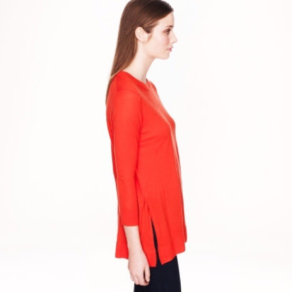 63% off J. Crew Sweaters - Merino Side Slit Tunic Sweater from ...