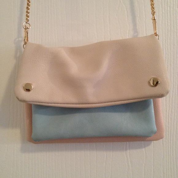 Pastel color crossbody bag.