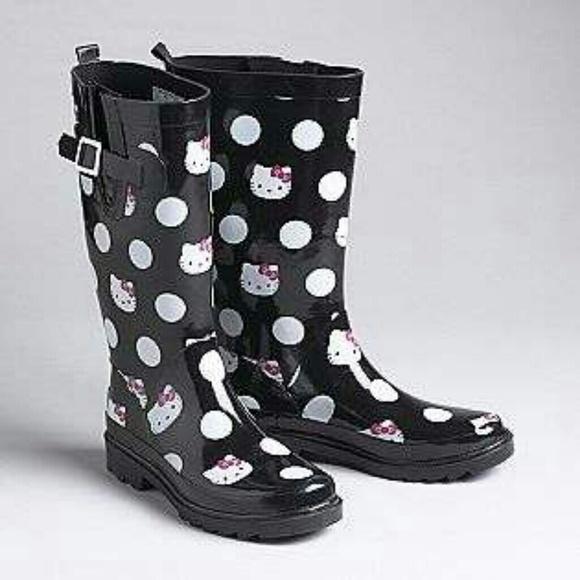 Sanrio Hello Kitty Polka Dot Rain Boots