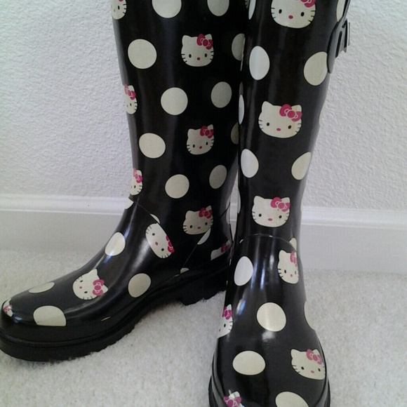 Sanrio - Sanrio HELLO KITTY Polka Dot Rain Boots from . my anthro ...