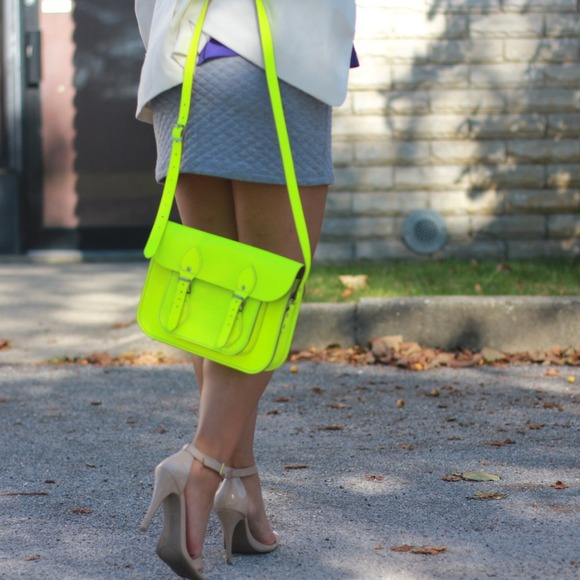 The Cambridge Satchel Company Handbags - Neon Yellow Cambridge Satchel