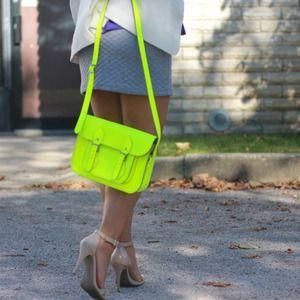 The Cambridge Satchel Company Handbags - Neon Yellow Cambridge Satchel