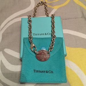 Authentic Tiffany & co tag necklace