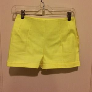 20% off Pants - Pink and yellow polka dot high waisted shorts from ...
