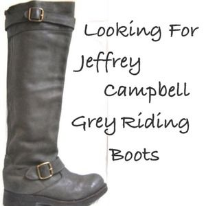 Looking For Jeffery Campbell Grey Riding Boots