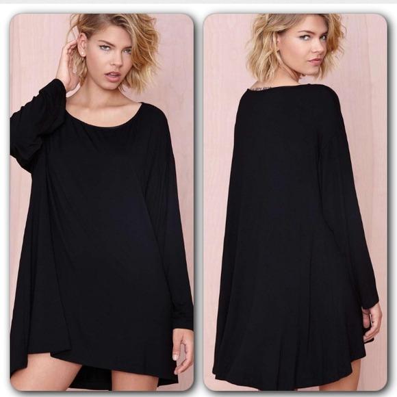 Dresses Plus Size Sexy Black Mini Long Sleeve Dresstop Poshmark