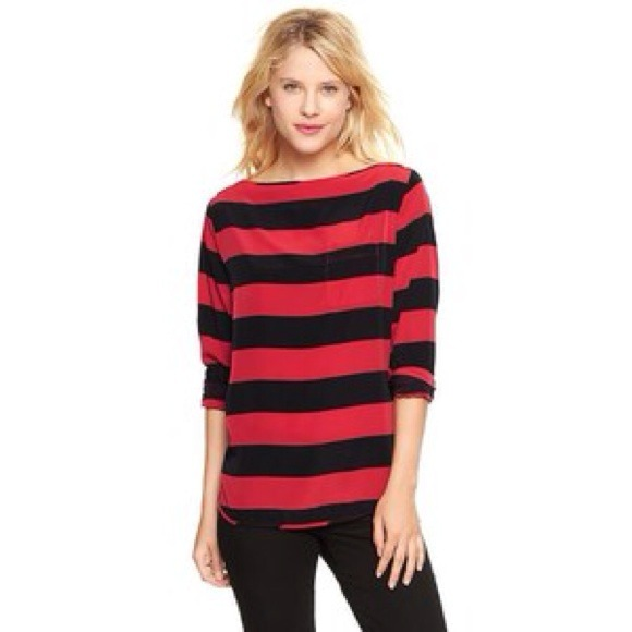 59090ae0231bde GAP Tops - 🌟Sale! 🌟Gap • red and black stripe tunic