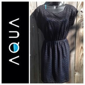 NWOT Black and Blue Perforated Dress