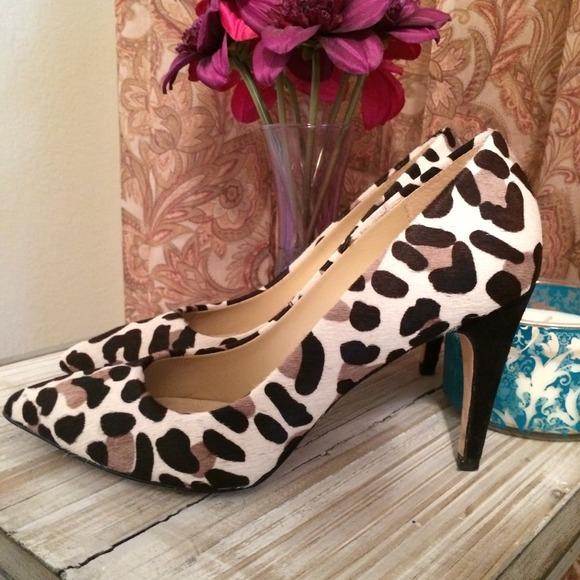 { S A L E } DVF Leopard calf hair heels