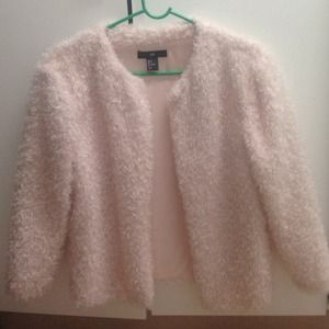 Powder pink fluffy cardigan